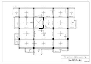 StruBIM Design. Planos de armado de losas